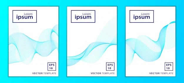 Conjunto de portada de folleto comercial mínima