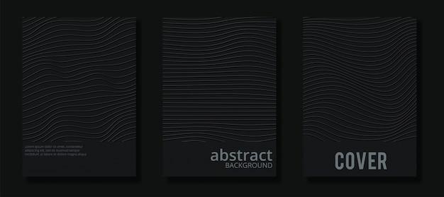 Conjunto de portada minimalista