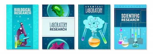 Conjunto de portadas de ciencia