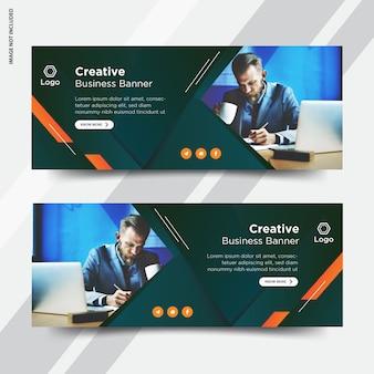 Conjunto de portadas de facebook para empresas