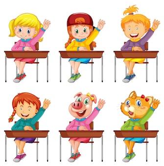 Conjunto de preguntas de respuesta del alumno.