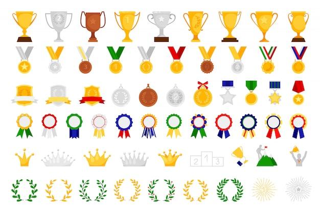 Conjunto de premios de dibujos animados