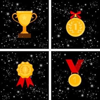 Conjunto de premios de oro