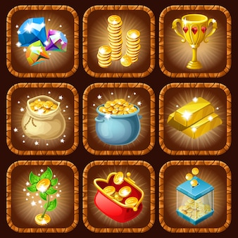 Conjunto de premios y recompensas