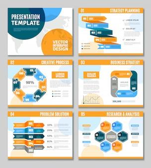 Conjunto de presentación de infografía