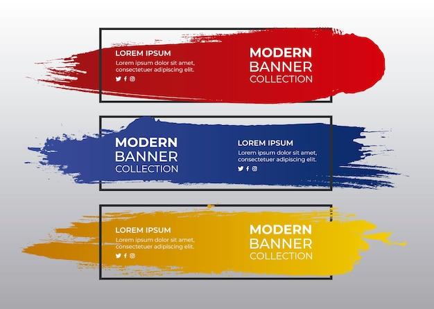 Conjunto de presupuestos de colores pintados.