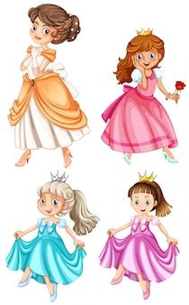 Conjunto de princesas bonitas