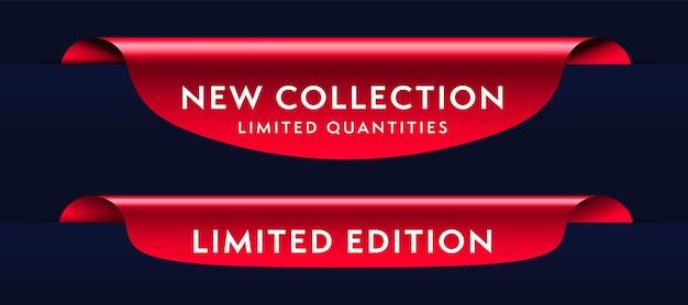 Conjunto de producto de oferta comercial rojo.