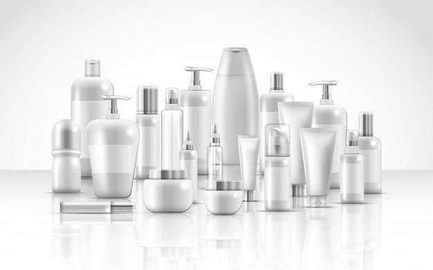 Conjunto de productos de belleza natural para el cuidado de la piel.