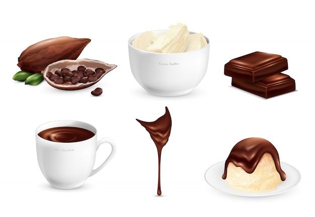 Conjunto de productos de cacao