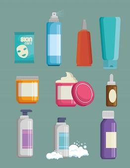 Conjunto de productos de cremas faciales