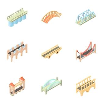 Conjunto de puente, estilo de dibujos animados
