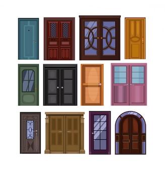 Conjunto de puertas ilustración