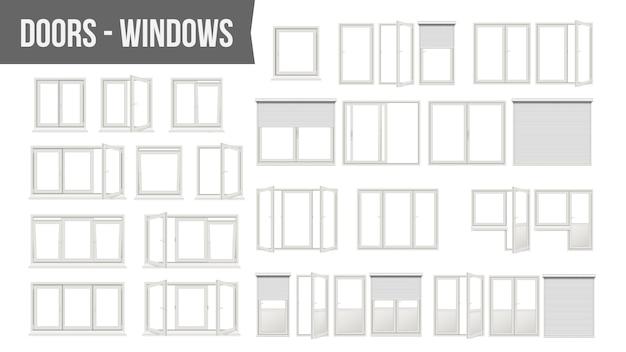 Conjunto de puertas de ventanas de plástico pvc