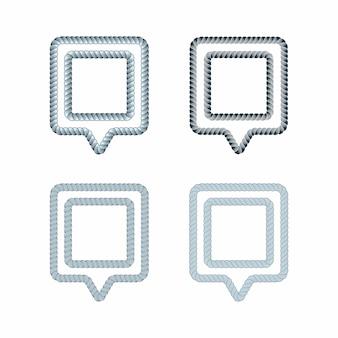 Conjunto de puertos y muelles guía de ubicación concepto de símbolo creativo. knot spot idea de diseño de logotipo. inspiración de logotipo con cuerda y icono de pin de punto. tema del sistema de posicionamiento global.