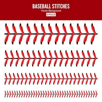 Conjunto de puntadas de béisbol