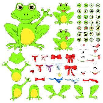 Conjunto de ranas de partes del cuerpo.