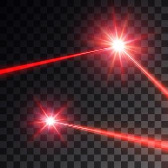 Conjunto de rayo láser rojo,