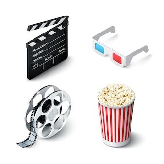 Conjunto realista de cine