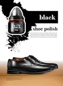 Conjunto realista de zapatos de hombre