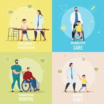 Conjunto de rehabilitación para personas discapacitadas