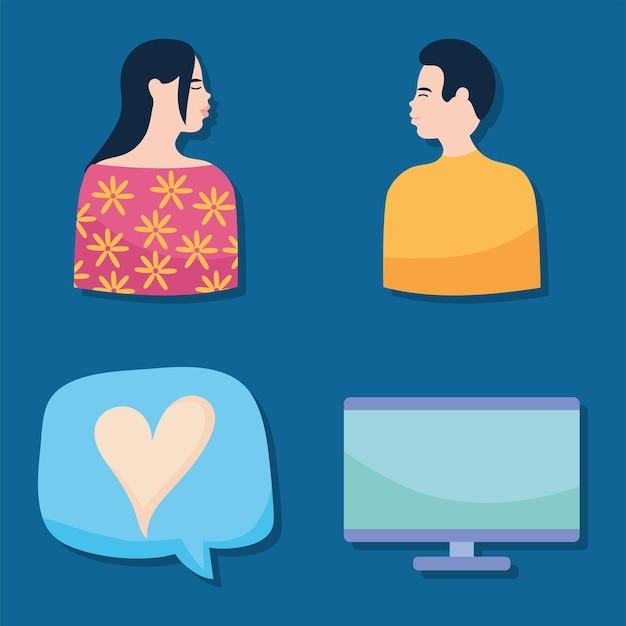 Conjunto de relaciones virtuales