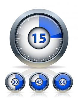 Conjunto de reloj temporizador,