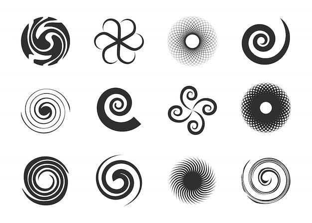 Conjunto de remolinos circulares