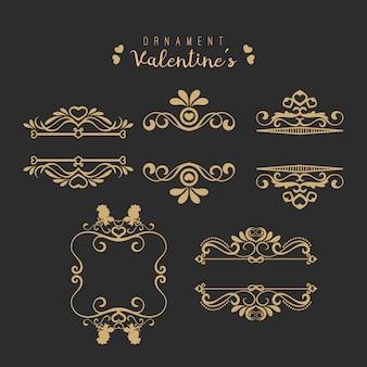 Conjunto de remolinos dibujados a mano. elemento de diseño romántico para invitaciones de boda, y guardar la fecha del coche