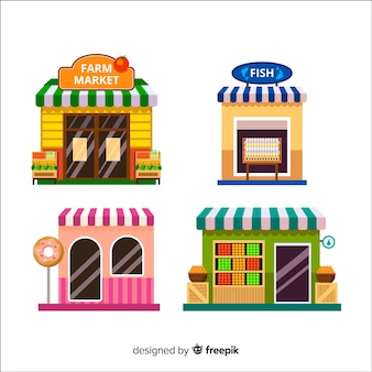 Conjunto de restaurantes modernos