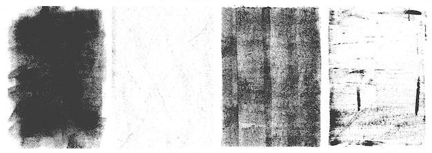 Conjunto retro de marcos verticales grunge