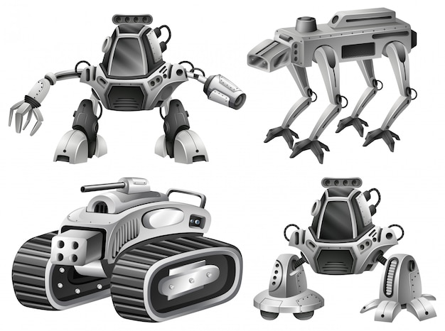 Un conjunto de robot aislado.