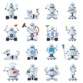 Conjunto de robots caseros