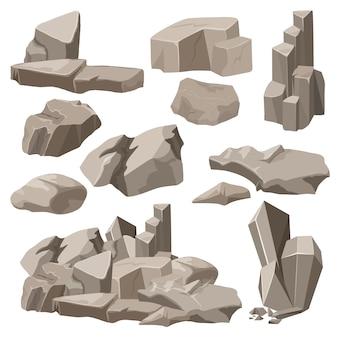 Conjunto rocas y piedras