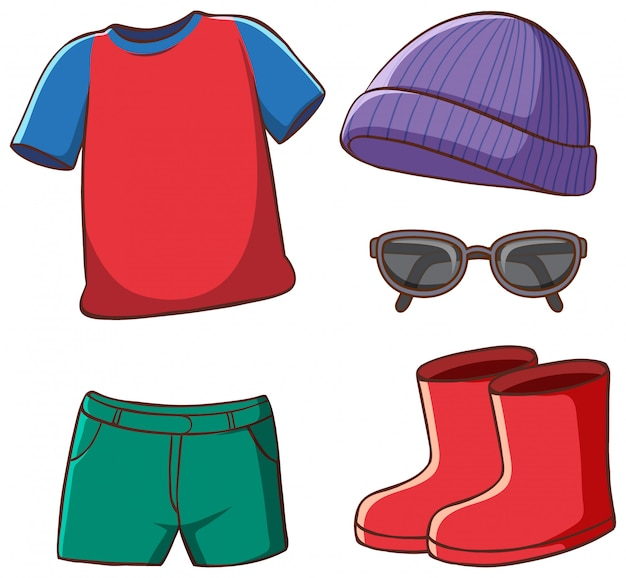 Conjunto de ropa aislada