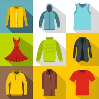 Conjunto de ropa interior, estilo plano