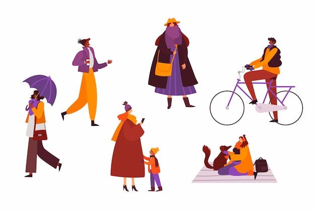 Conjunto de ropa de invierno de personas