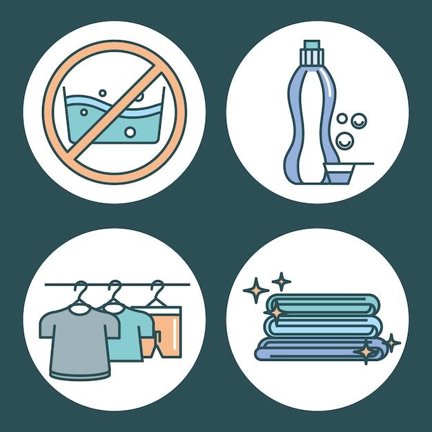 Conjunto de ropa de lavandería