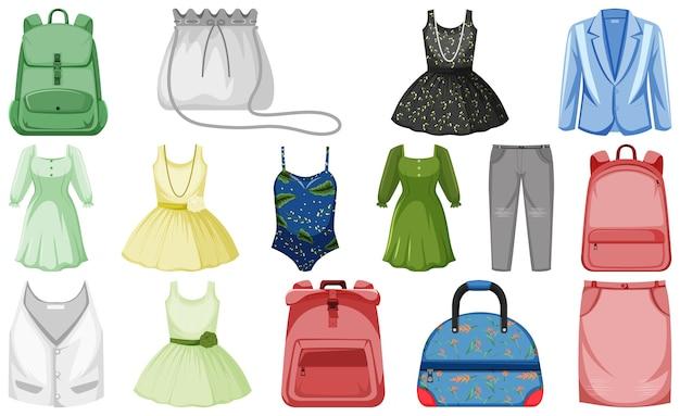 Conjunto de ropa maqueta