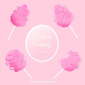 Conjunto rosa de algodón de azúcar