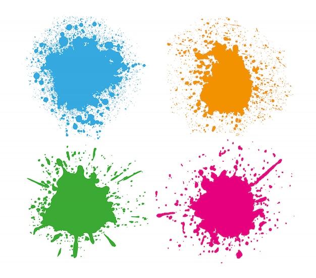 Conjunto de salpicaduras de colores