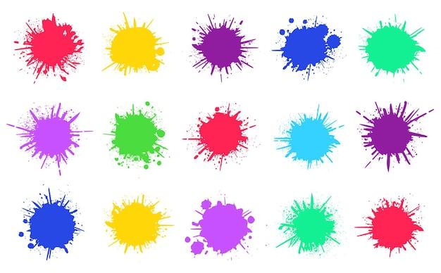 Conjunto de salpicaduras de pintura
