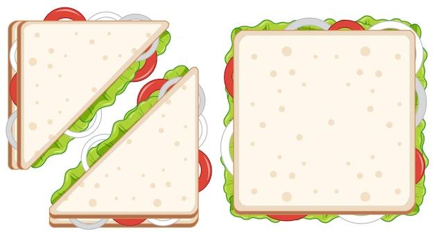 Conjunto de sándwiches saludables