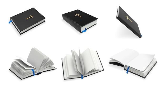 Conjunto de la santa biblia de cristianismo realista.