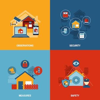 Conjunto de seguridad para el hogar