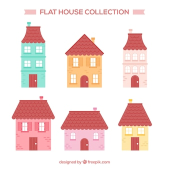 Conjunto de seis casas