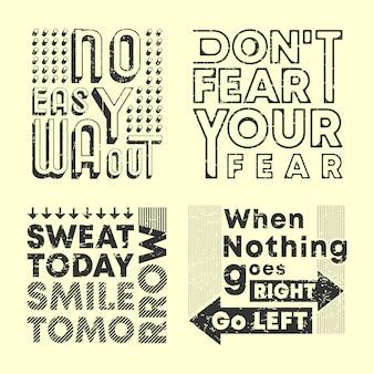 Conjunto de sello estampado de camiseta con eslogan de moda