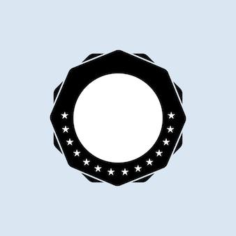 Conjunto de sellos en blanco. . icono de placa en blanco. logotipo de insignia certificado.