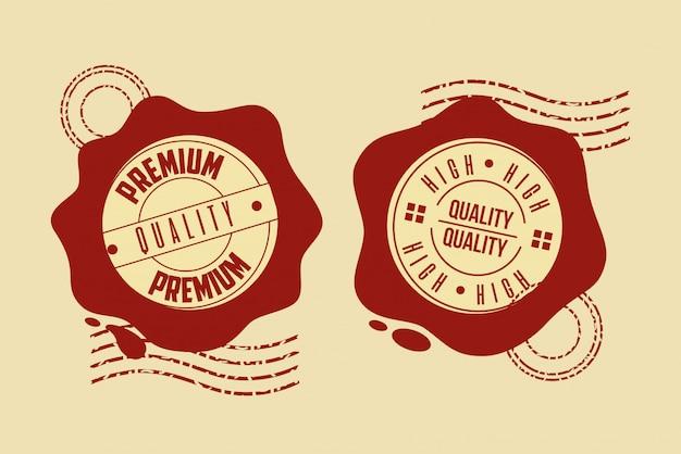 Conjunto de sellos de calidad premium