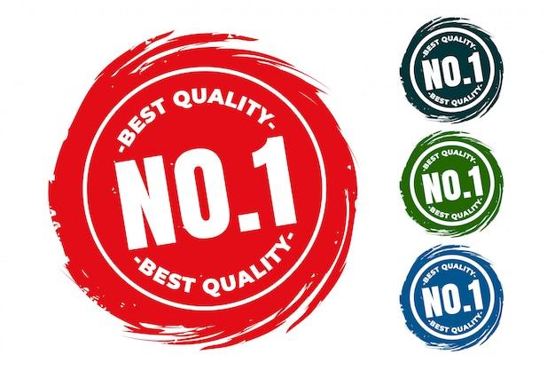 Conjunto de sellos de goma número uno de la mejor calidad